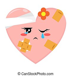 Pink Love Character with Bad Condition