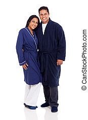 indian couple wearing pajamas - cute indian couple wearing...