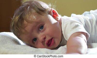 Cute Infant Baby Boy Happy Child