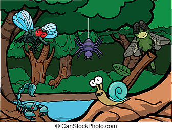 Cute Insect around Exotic Forest