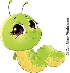 cute, inseto, lagarta