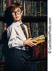 cute intelligent boy