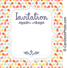 Cute invitation template for festive events