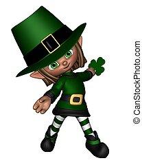 cute, irlandês, toon, -, 2, leprechaun