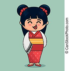 cute japanese doll kawaii style