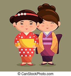 cute japanese girls group kawaii style