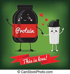 Cute Jar Sport Nutrition and Shaker. - Sports nutrition...