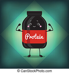 Cute Jar Sport Nutrition, Protein, Gainer, Black, Can Cap...