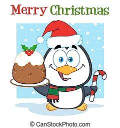 cute, karakter, cartoon, pingvin