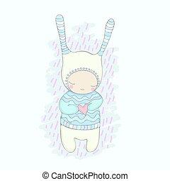 cute, karakter, cartoon, smil