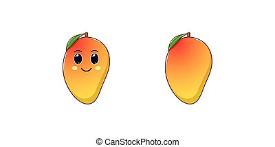 Cartoon Juicy Tropical Mango Fruit Juicy Ripe Tropical Cartoon Mango Fruit Character With Orange Yellow Smooth Skin Isolated Canstock Mango euclidean , mango tree results, mangoes with trees illustration png clipart. cartoon juicy tropical mango fruit