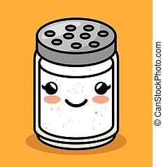 cute kawaii salt meal