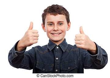 Cute kid thumbs up