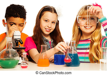 Cute kids and chemistry