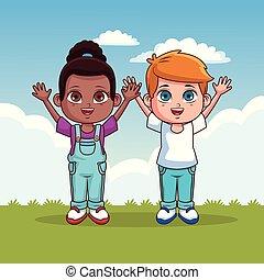 Cute kids cartoons