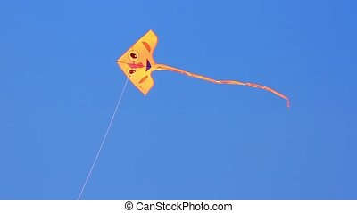 Cute kite - Color kite flying on the sky.