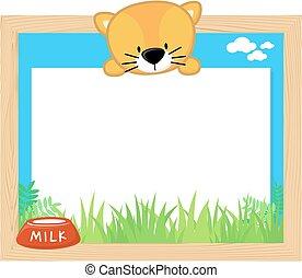 cute kitten frame