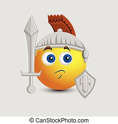 Cute Knight Soldier Emoji