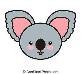 cute koala animal tender isolated icon