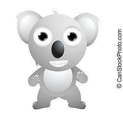 Cute koala cartoon posing