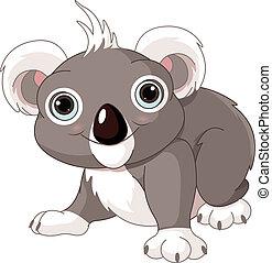 Cute koala - Illustration of cute funny koala
