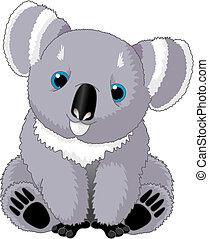 Cute Koala - Illustration of the Cute sitting Koala Bear
