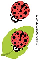 Cute Lady Bug Character. Collection