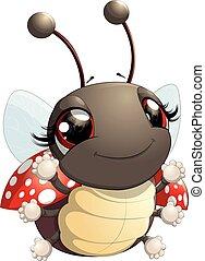 Cute ladybug cartoon