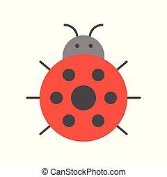 ladybug icon isolated on white background vector illustration