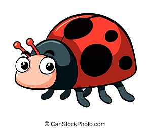 Cute ladybug on white background