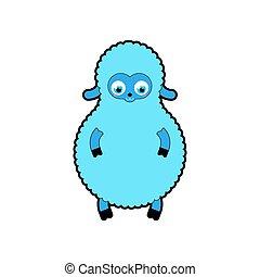 Cute Lamb baby isolated. Cartoon Sheep child. vector illustration