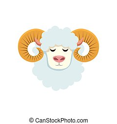 cute lamb farm animal icon