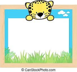 cute leopard frame