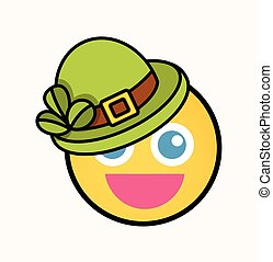 Cute Leprechaun - Cartoon Smiley