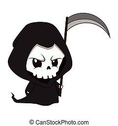 cute, liden, reaper, illustration