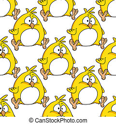 cute, liden, tyk, gul, kylling, påske