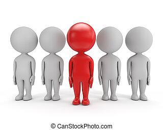 cute, liderança, -, 3d, pessoas