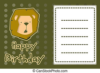 cute lion birthday card