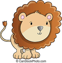 Cute Lion Cub vector Illustration