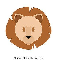 Cute lion face