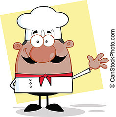 Cute Little African American Chef