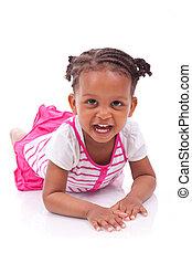 Cute little african american girl - Black children