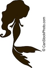 mermaid silhouette vector illustration vector