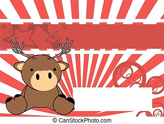 baby sit deer cartoon background