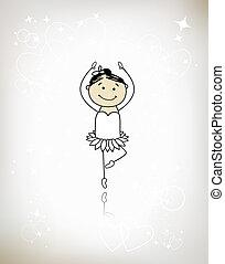 Cute little ballet dancer for your design