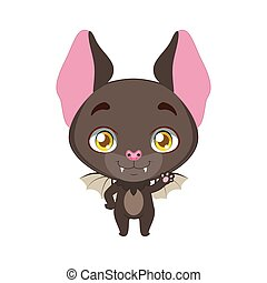 Cute little bat illustration