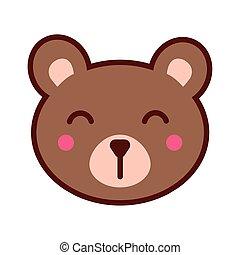cute little bear teddy character