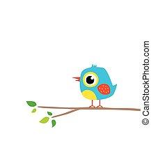 cute little bird on tree