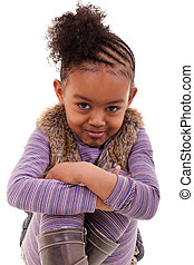 cute little black girl angry