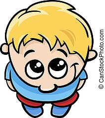 cute little boy cartoon illustratio